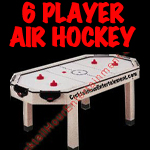 florida arcade game 6 player air hockey