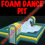 florida arcade game inflatable foam dance pit