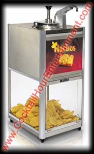 Nacho Chip Warmer With Heated Cheese Dispenser