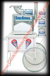 sno kone cart with sno kone machine
